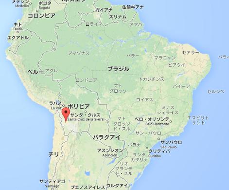 ウユニ塩湖の地図