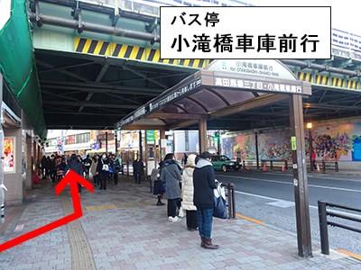 早稲田口改札を出たら左の高架下をくぐる